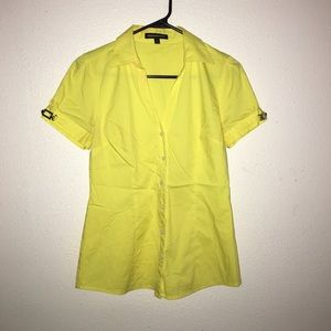 Tops - Beautiful yellow top w/ buckles on the sleeve SZ:S